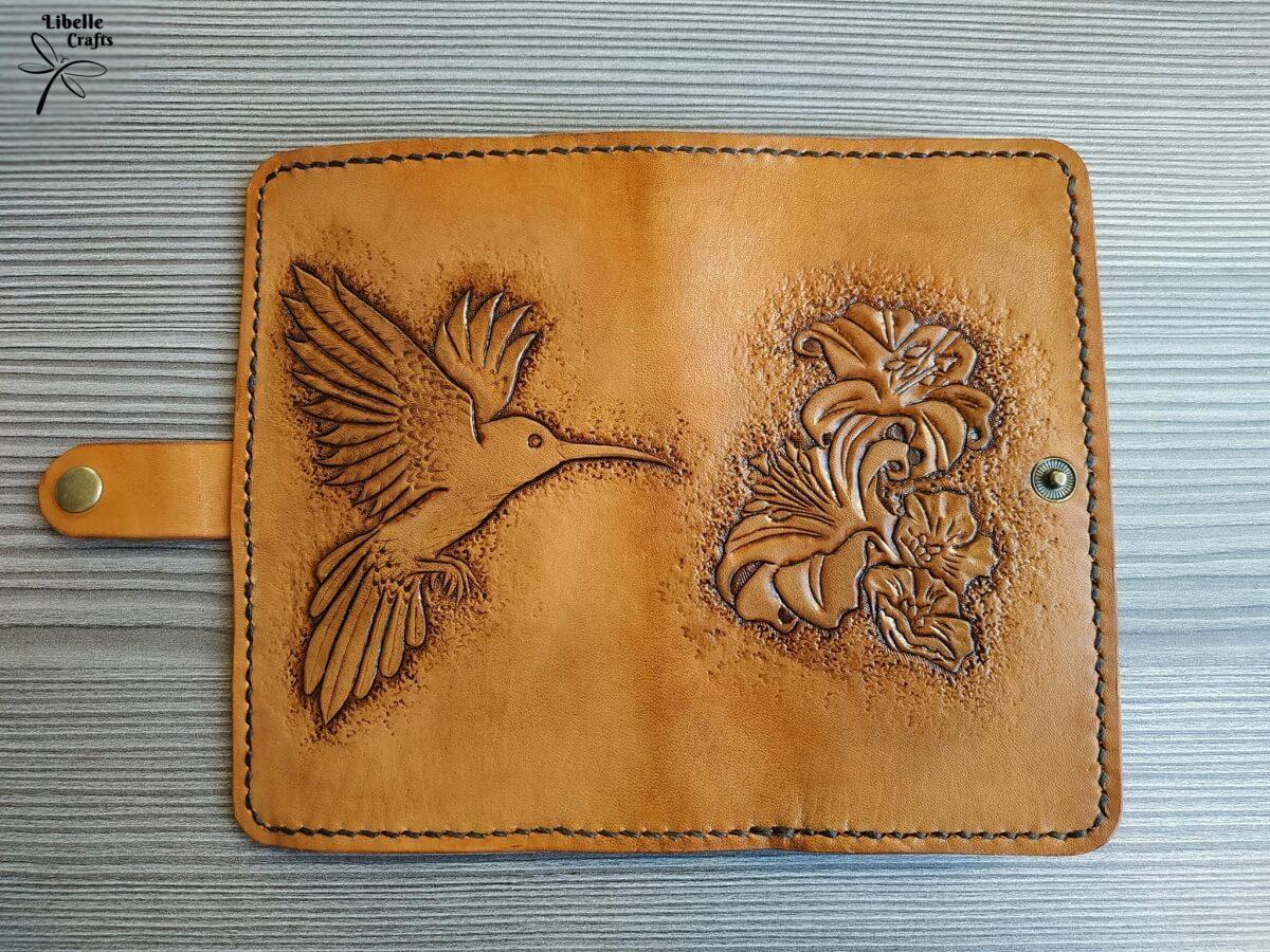 Virágos - kolibris pénztárca